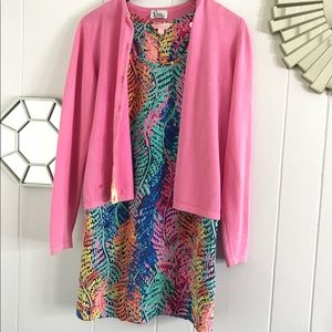 Lilly Pulitzer Pink Cardigan xs